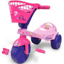 Triciclo Com Pedal Infantil Xarme Fadinha Rosa 7488 Xalingo -
