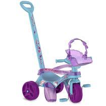 Triciclo de Passeio e Pedal - Mototico - Disney - Frozen 2 - Azul e Roxo - Bandeirante -