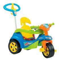 Triciclo e carrinho empurrador 2 em 1 baby trike azul - Biemme