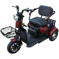 Triciclo Elétrico 350W Dois Assentos Cadeiras Alarme e Marcha a Ré Zub - Duos