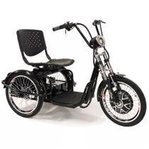 Triciclo elétrico Duos Fox 800W 48v 15ah Preto -