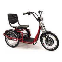 Triciclo elétrico Duos Fox 800W 48v 15ah Vermelho -