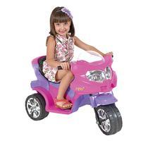 Triciclo Elétrico Infantil Viper 6V Rosa E Roxo Homeplay -