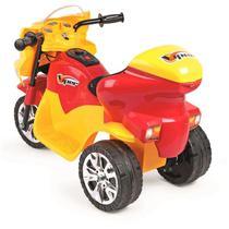 Triciclo Elétrico Infantil Viper Amarelo E Vermelho 6V- HOMEPLAY -