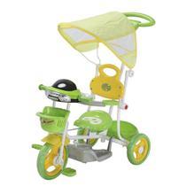 Triciclo Infantil 2 em 1 com Capota - Verde - Mini veiculos