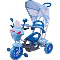 Triciclo Infantil Azul Empurrador Passeio Motoca Cobertura - Bel Sports