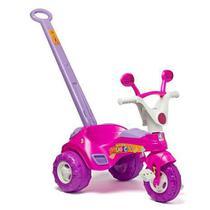 Triciclo Infantil Baby Music Rosa C/ Haste E Som - Cotiplás - Cotiplas