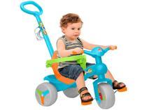 Triciclo Infantil Bandeirante com Empurrador - Veloban Haste Removível Porta Objetos