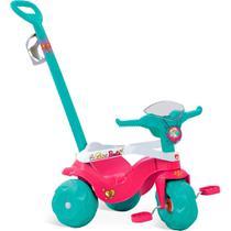 Triciclo Infantil Bandeirante Motoban Premium - Pedal e Passeio com Aro - Barbie -