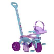 Triciclo Infantil Bandeirante Mototico Frozen II Passeio E Pedal Azul/Roxo -