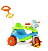 Triciclo Infantil Bandeirantes - Velobaby - Passeio e Pedal - Azul -