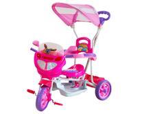 Triciclo Infantil Bebe Motoca Passeio C/ Som Luz Empurrador - Dm Toys