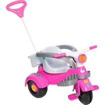Triciclo Infantil Calesita Velocita Classic - 2 em 1 - Pedal e Passeio com Aro - Rosa -