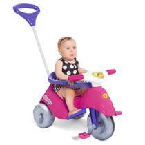 Triciclo infantil com empurrador e protetor 1-3 anos lelecita calesita -