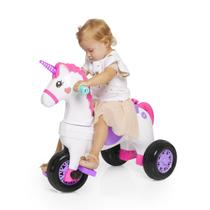 Triciclo infantil com empurrador e protetor 1-3 anos unicórnio fantasy calesita -