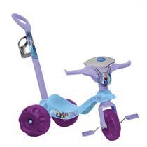 Triciclo infantil com empurrador mototico frozen - bandeirante -