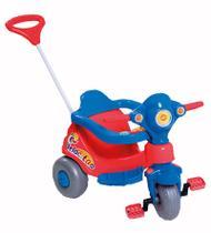 Triciclo Infantil com Haste Direcionável Velocita - Vermelho - Calesita -