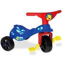 Triciclo Infantil Com Pedal Empurrador Peixinho 7492 Xalingo -