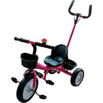Triciclo Infantil Empurrador Passeio Motoca Velotrol Rosa - Importway