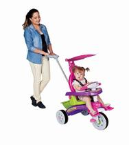 Triciclo Infantil Fit Trike Com Empurrador Rosa Magic Toys