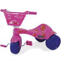 Triciclo Infantil Fofete Com Cestinha E Pedal Rosa Xalingo -