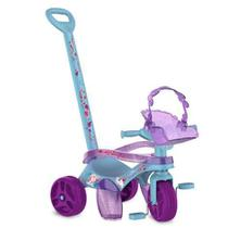 Triciclo Infantil Frozen II Com Empurrador Bandeirante -