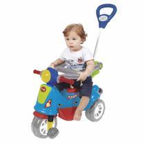 Triciclo Infantil Maral Retrô Com Empurrador Colorido -