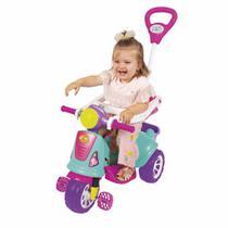 Triciclo Infantil Maral Retrô Com Empurrador Pink -