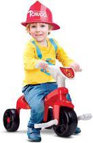 Triciclo Infantil Motoca Motoquinha Bombeiro com Som e Haste - Samba Toys