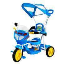 Triciclo infantil motoca passeio com luz e som e empurrador - Dmtoys