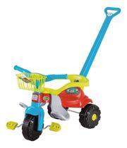 Triciclo Infantil Motoca Tico Tico Festa Azul Com Aro E Cestinha - Magic Toys