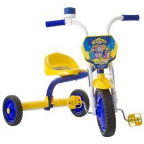 Triciclo Infantil Motoca Velotrol Top Boy Jr Ultra Bikes Azul/Amarelo -