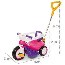 Triciclo Infantil Passeio Bebê Criança Empurrador Protetor Seguro - Poliplac
