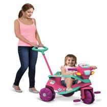 Triciclo infantil passeio bebe velobaby rosa - Bandeirante