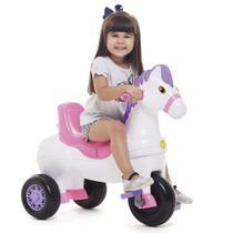 Triciclo Infantil Passeio e Pedal Cavalinho Potó - Rosa - Calesita -