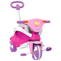 Triciclo Infantil Passeio Empurrador E Protetor Rosa Xalingo -
