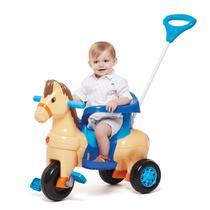 Triciclo Infantil Potó Cavalinho Passeio e Pedal - Calesita -