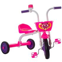 Triciclo infantil pro tork ultra bike top girls branco e rosa -