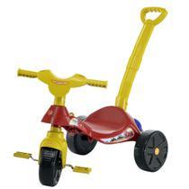 Triciclo Infantil Smile Bombeiro com Empurrador Biemme -
