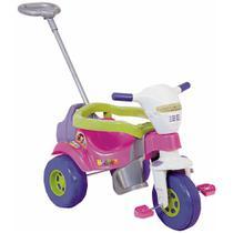 Triciclo Infantil Tico Tico Super Bichos com Aro Rosa - Magic Toys -