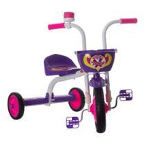 Triciclo Infantil Ultra Bikes Top Girl Branco e Roxo - TUJ-03BCRX - Pro Tork