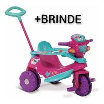 Triciclo Infantil Velo Baby com Empurrador - Bandeirante + BRINDE -