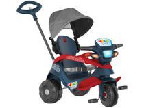 Triciclo Infantil Velobaby 337 com Empurrador e  - Capota Bandeirante -