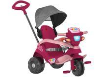 Triciclo Infantil Velobaby 339 com Empurrador e  - Capota Bandeirante -