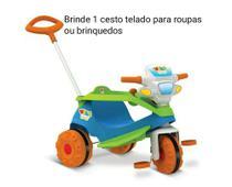 Triciclo Infantil Velobaby Bandeirante Pedal e Passeio c/ Haste Articulada Azul Bandeirantes -