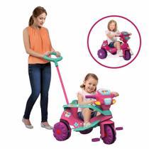 Triciclo Infantil Velobaby - Passeio e Pedal - Rosa - Bandeirante -