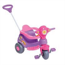 Triciclo Infantil Velocita Calesita Com Empurrador Lilás -