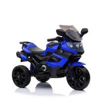 Triciclo Mini Moto Elétrica Infantil Luxo Azul - Baby Style -