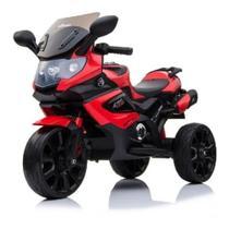 Triciclo Mini Moto Elétrica Infantil Luxo Vermelho - Baby Style -