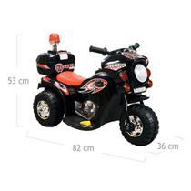 Triciclo Mini Moto Elétrica Infantil Pop Preto - Baby Style -